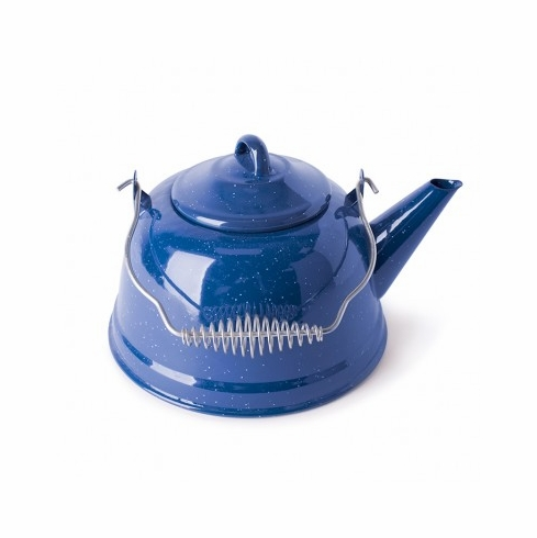 Stansport 10955 Enamel Tea Kettle- 3-1/2 Quart