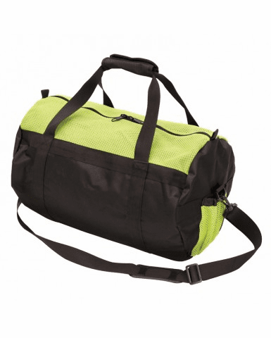 "Stansport, 17008-10 Mesh Top Roll Bag - 12"" X 20"" - Green/Black"