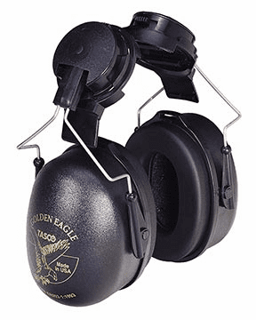 Tasco, Golden Eagle Cap Mounted Earmuffs, Item # 2951, Soft-Seal� ear cushions combined with very low pressure for maximum comfort and acceptance.