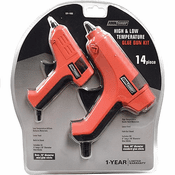 Tool Shop 231-1933 14PC Dual Temp Glue Gun Kit