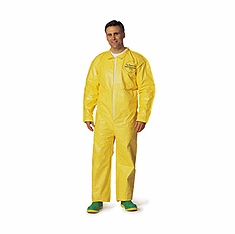 Tychem® QC Chemical Protection Coveralls With Bound Seams And Front Zipper Closure