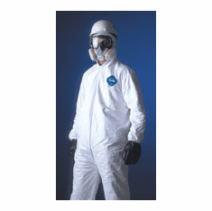 TYVEK TY122S Coverall Zippered Front FT Hood, Bootie, Elastic Wrist