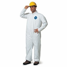 TYVEK TY125SWH Coverall Zip Fit Elastic Wrist & Ankles
