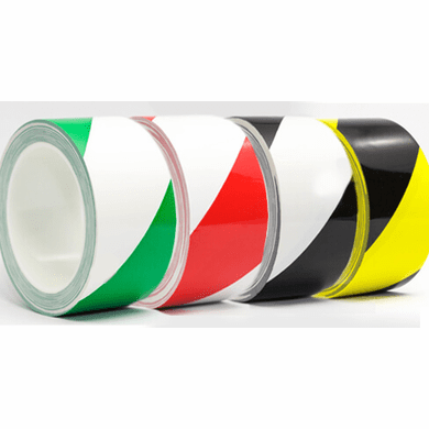 UltraTape 1165 Striped Over Laminated Floor Marking Cleanroom Tape