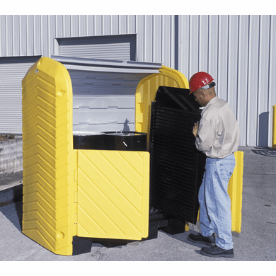 UltraTech 9613 Ultra-Hard Top Spill Pallets® P2 Plus, With Drain - 2-Drum