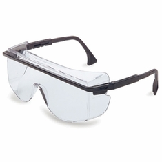 Uvex, Astrospec OTG 3001 Safety Eyewear, Black Frame, Clear UV Extreme Anti-Fog Lens, S2500C