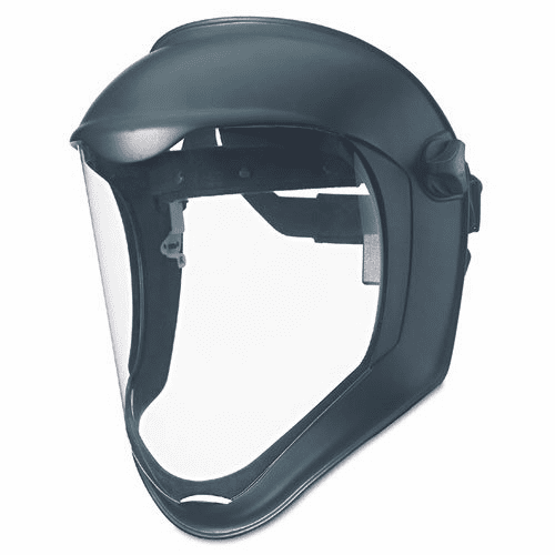 UVEX, Face Shield with Suspension, Clear Polycarbonate, Uncoated Visor, Black Matte Shell, S8500