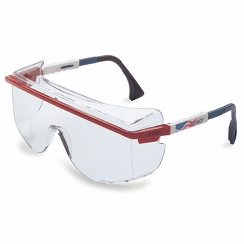 Uvex, Patriot - Red, White, Blue Frame, Gray Lens, Ultra-Dura Anti-Scratch Coating, S2534