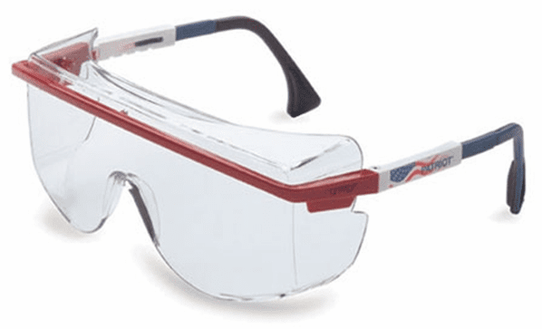 Uvex S2536 Patriot - Red, White, Blue Frame, SCT-Gray Lens, Ultra-dura Anti-scratch Coating