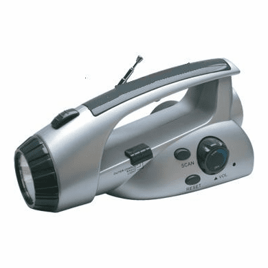 Viatek, Battery-Free Wind Up Flashlite FM Radio