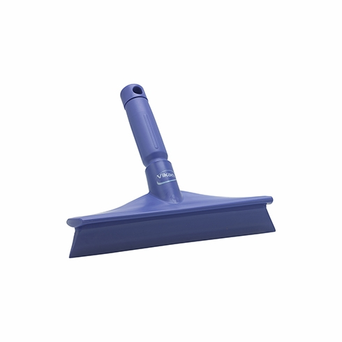 "Vikan, 71258 Rubber Polypropylene Frame Bench Single Blade Squeegee, 10"", Purple"