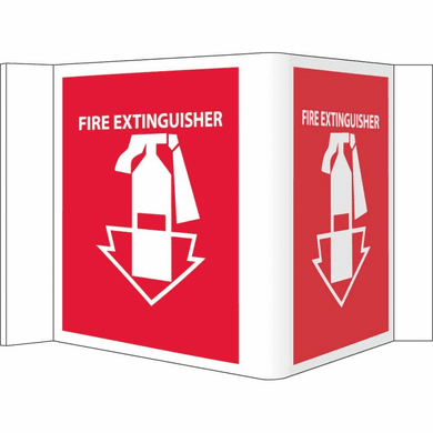 VISI VS11R SIGN, FIRE EXTINGUISHER, RED, 8X14 1/2, .125 ACRYLIC