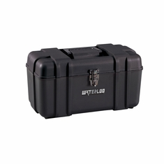 "Waterloo PP-1709BK 17"" Plastic Tool Box Black"