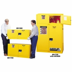 Yellow Piggyback Safety Cabinets