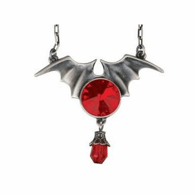 YTC 2361 Bat Wing With Ruby Pendant