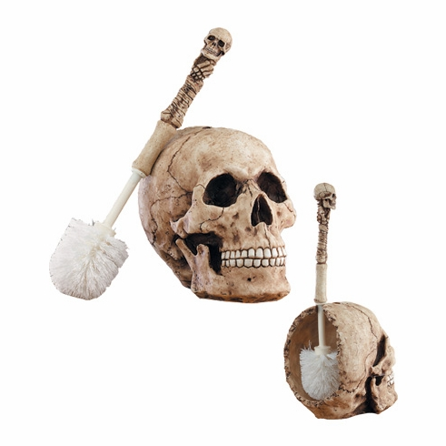 YTC, Skull Toilet Brush *****This Item Is Discontinued*****