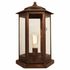 Baja Mission Style Pier-Base Column Copper Lantern