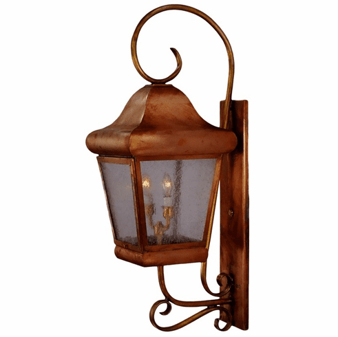 Belmont Wall Mount Lantern with Bracket & Scroll
