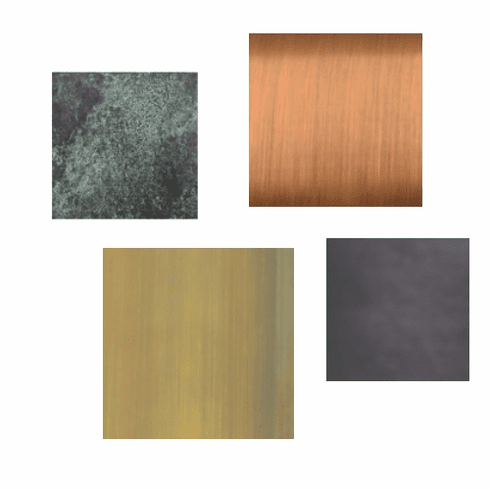 Copper and Brass Finish Samples