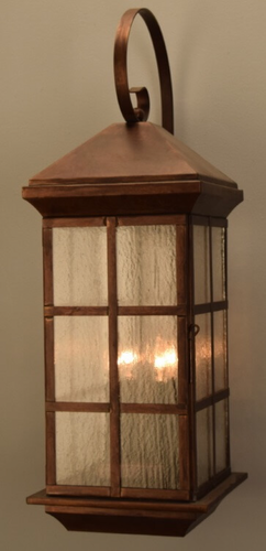 Granada Brass Lantern Outdoor Wall Light