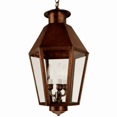 Franklin Pendant Style Hanging Copper Lantern