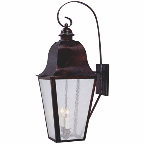 Keene Wall Light with Bracket Outdoor Copper Lantern