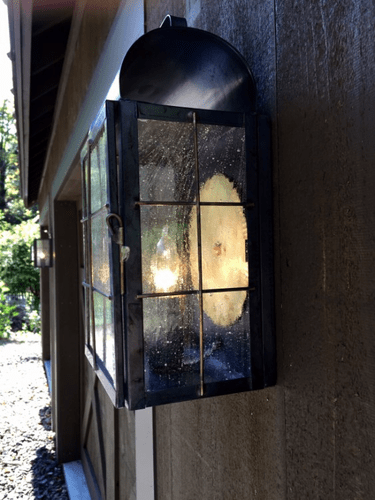 New Haven Lantern Wall Sconce Installation - Image #4