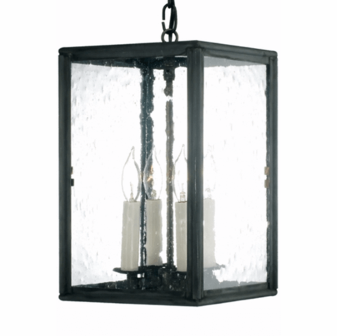 Open spaces kitchen copper lantern hanging pendant light open spaces hanging lantern pendant light size small dimensions 13 h x 8 w x 8 d sockets 4 60w candelabra finish dark copper glass clear mozeypictures Images