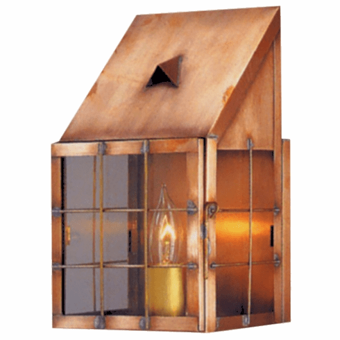 Saltbox Copper Lantern Wall Sconce