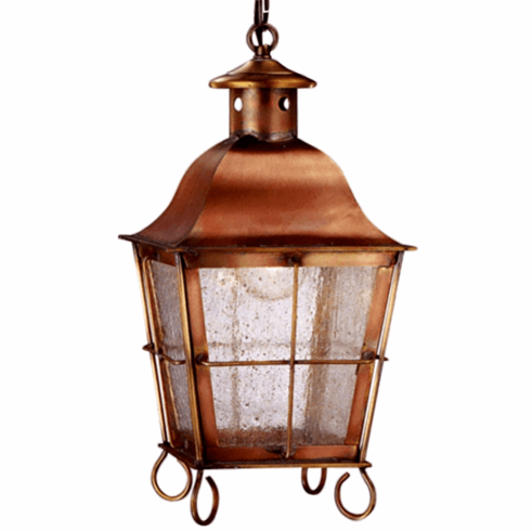 Size Small Dimensions 14 H X 7 5 W D Socket 1 60w Medium Base Finish Antique Copper Gl Seeded