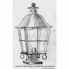 Windsor Pier-Mount Copper Lantern Column Light