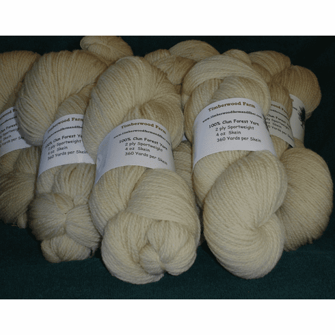 2 Ply Sport Weight Clun Forest Yarn - 4 oz