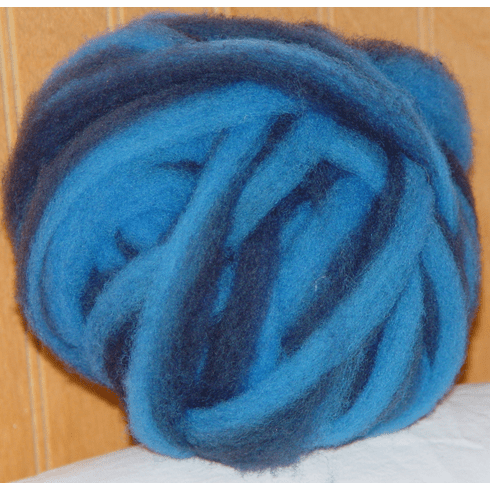 Clun Forest Wool Roving - Blue Stripe