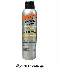 Ben's Clothing Insect Repellent Treatment
