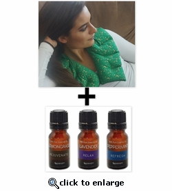 ***SPECIAL DEAL***  Nature's Approach® Shoulder Herbal Pack + SpaRoom® Everyday Essential Oils 3-Pack 10ML
