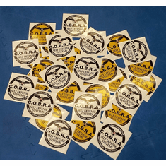 100 Count - C.O.B.R.A. 5 inch Circle Stickers