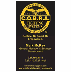 250 Custom COBRA Self-Defense Business Cards
