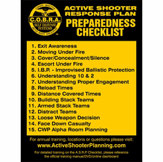 Active Shooter Response Checklist Banner - Retractable