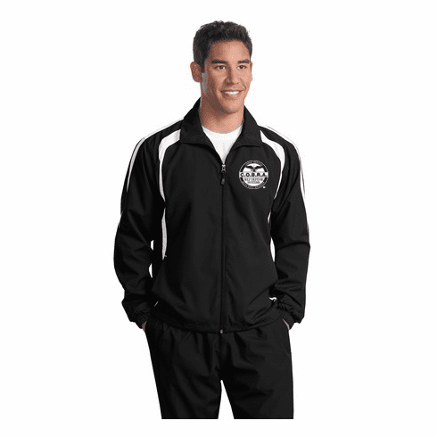 COBRA - Black Two Toned Wind Breaker With Custom Embroidered Logo