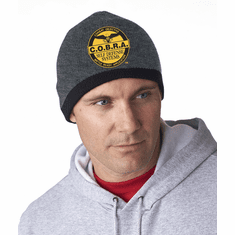 COBRA - Custom Head Beanie With Gold or White Logo