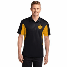 Dri- Fit  Polo Shirt With Custom Embroidered Logo- Gold Panels