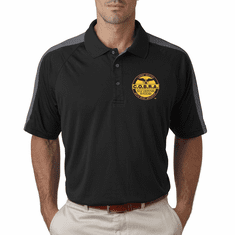 Dri - Fit Polo With Custom Embroidered Logo- Grey Panels