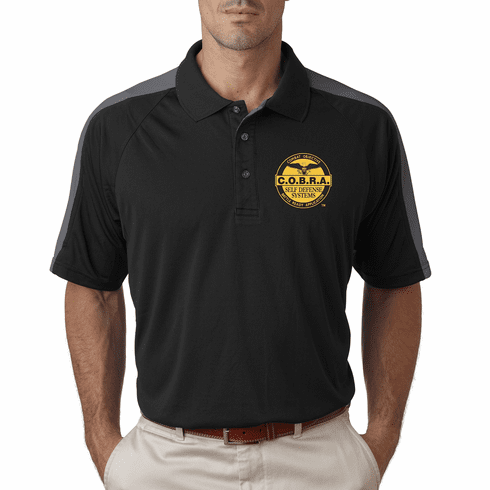 COBRA - Dri - Fit Polo With Custom Embroidered Logo- Grey Panels