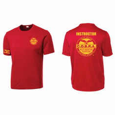 COBRA DRI-FIT Red & Gold Instructor Shirt