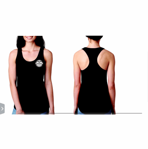 COBRA Ladies Racer Back Tank Tops or V-Neck - White COBRA Logo