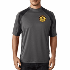 COBRA- GREY Performance T-Shirt - Dri-Fit Material- Custom Embroidered Logo