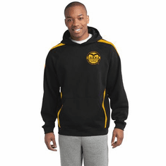 COBRA - Two Toned Hooded Sweat Shirt With Custom Embroidered Logo