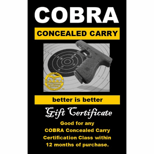 Concealed Carry Gift Certificate