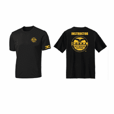 Dri- Fit Black & Gold COBRA Instructor Shirt short sleeve