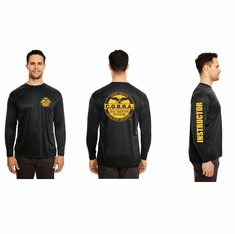 Long sleeve Dri-Fit Workout shirt - instructor Tag On Full Sleeve